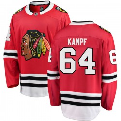 David Kampf Chicago Blackhawks Men's Fanatics Branded Red Breakaway Home Jersey