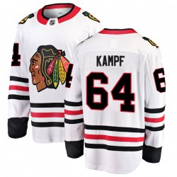 David Kampf Chicago Blackhawks Men's Fanatics Branded White Breakaway Away Jersey