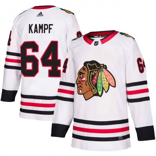 David Kampf Chicago Blackhawks Youth Adidas Authentic White Away Jersey