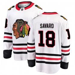Denis Savard Chicago Blackhawks Men's Fanatics Branded White Breakaway Away Jersey
