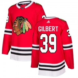 Dennis Gilbert Chicago Blackhawks Men's Adidas Authentic Red Home Jersey