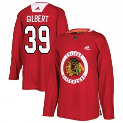 Dennis Gilbert Chicago Blackhawks Men's Adidas Authentic Red Home Practice Jersey