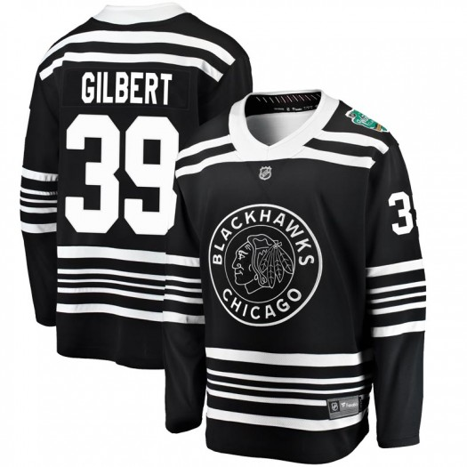 Dennis Gilbert Chicago Blackhawks Men's Fanatics Branded Black 2019 Winter Classic Breakaway Jersey