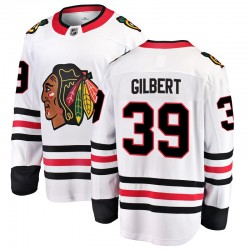 Dennis Gilbert Chicago Blackhawks Men's Fanatics Branded White Breakaway Away Jersey