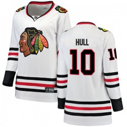 Dennis Hull Chicago Blackhawks Women's Fanatics Branded White Breakaway Away Jersey