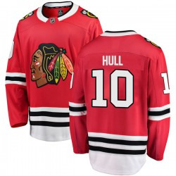 Dennis Hull Chicago Blackhawks Youth Fanatics Branded Red Breakaway Home Jersey