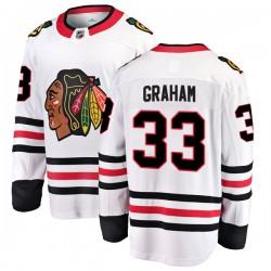 Dirk Graham Chicago Blackhawks Men's Fanatics Branded White Breakaway Away Jersey