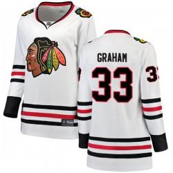 Dirk Graham Chicago Blackhawks Women's Fanatics Branded White Breakaway Away Jersey
