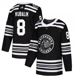 Dominik Kubalik Chicago Blackhawks Youth Adidas Authentic Black 2019 Winter Classic Jersey