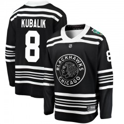 Dominik Kubalik Chicago Blackhawks Youth Fanatics Branded Black 2019 Winter Classic Breakaway Jersey
