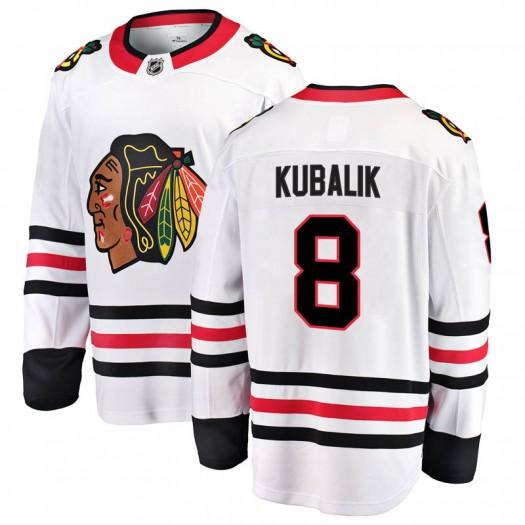 Dominik Kubalik Chicago Blackhawks Youth Fanatics Branded White Breakaway Away Jersey