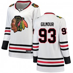 Doug Gilmour Chicago Blackhawks Women's Fanatics Branded White Breakaway Away Jersey