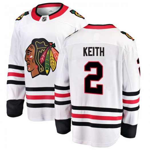 Duncan Keith Chicago Blackhawks Men's Fanatics Branded White Breakaway Away Jersey