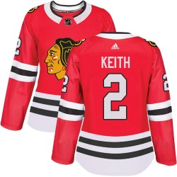 Duncan Keith Chicago Blackhawks Women's Adidas Authentic Red Home Jersey