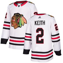 Duncan Keith Chicago Blackhawks Women's Adidas Authentic White Away Jersey