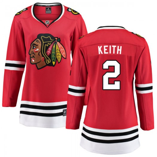 Duncan Keith Chicago Blackhawks Women's Fanatics Branded Red Home Breakaway Jersey
