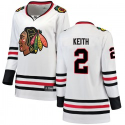 Duncan Keith Chicago Blackhawks Women's Fanatics Branded White Breakaway Away Jersey