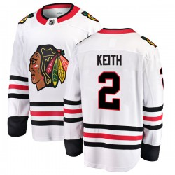 Duncan Keith Chicago Blackhawks Youth Fanatics Branded White Breakaway Away Jersey