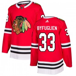 Dustin Byfuglien Chicago Blackhawks Men's Adidas Authentic Red Home Jersey