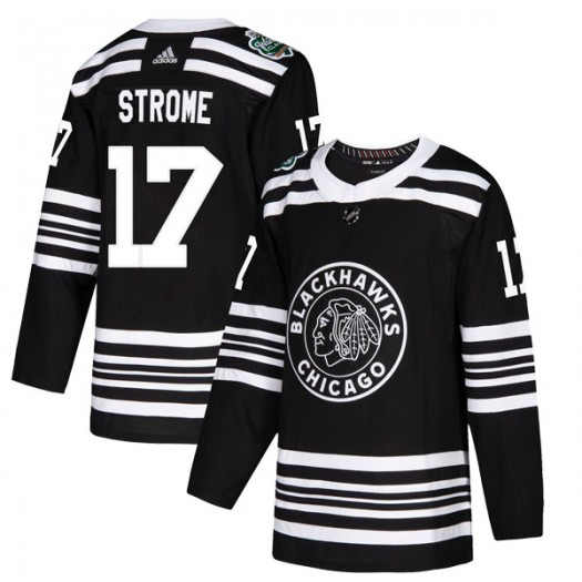 Dylan Strome Chicago Blackhawks Men's Adidas Authentic Black 2019 Winter Classic Jersey