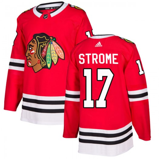 Dylan Strome Chicago Blackhawks Men's Adidas Authentic Red Home Jersey