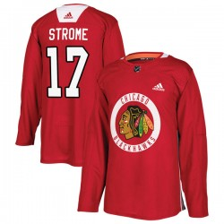 Dylan Strome Chicago Blackhawks Men's Adidas Authentic Red Home Practice Jersey