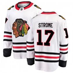 Dylan Strome Chicago Blackhawks Men's Fanatics Branded White Breakaway Away Jersey