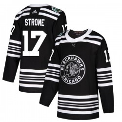Dylan Strome Chicago Blackhawks Youth Adidas Authentic Black 2019 Winter Classic Jersey