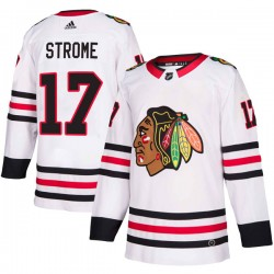 Dylan Strome Chicago Blackhawks Youth Adidas Authentic White Away Jersey
