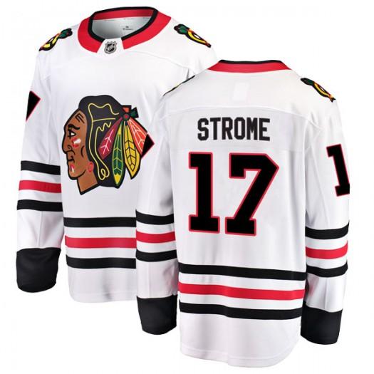 Dylan Strome Chicago Blackhawks Youth Fanatics Branded White Breakaway Away Jersey