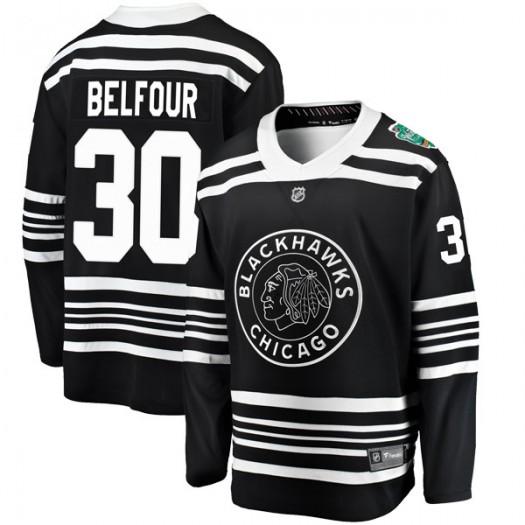 ED Belfour Chicago Blackhawks Men's Fanatics Branded Black 2019 Winter Classic Breakaway Jersey