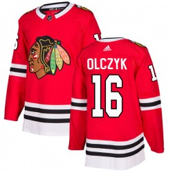 Ed Olczyk Chicago Blackhawks Men's Adidas Authentic Red Home Jersey