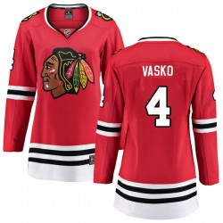 Elmer Vasko Chicago Blackhawks Women's Fanatics Branded Red Breakaway Home Jersey