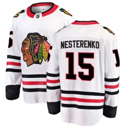Eric Nesterenko Chicago Blackhawks Men's Fanatics Branded White Breakaway Away Jersey