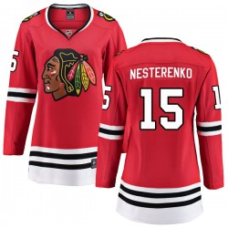 Eric Nesterenko Chicago Blackhawks Women's Fanatics Branded Red Breakaway Home Jersey