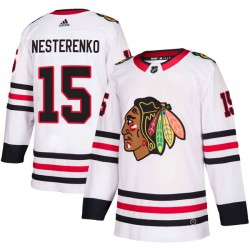 Eric Nesterenko Chicago Blackhawks Youth Adidas Authentic White Away Jersey