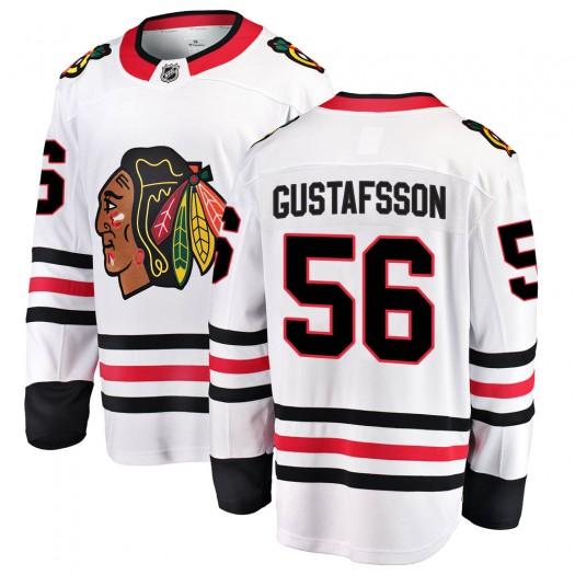 Erik Gustafsson Chicago Blackhawks Men's Fanatics Branded White Breakaway Away Jersey