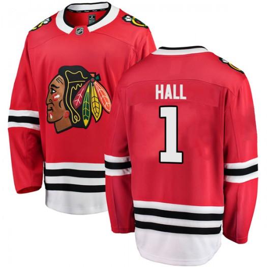 Glenn Hall Chicago Blackhawks Men's Fanatics Branded Red Breakaway Home Jersey
