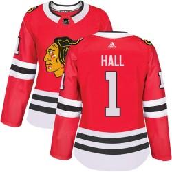 Glenn Hall Chicago Blackhawks Women's Adidas Authentic Red Home Jersey