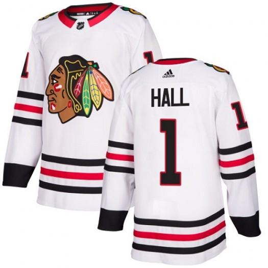Glenn Hall Chicago Blackhawks Women's Adidas Authentic White Away Jersey