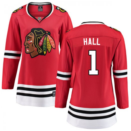Glenn Hall Chicago Blackhawks Women's Fanatics Branded Red Home Breakaway Jersey