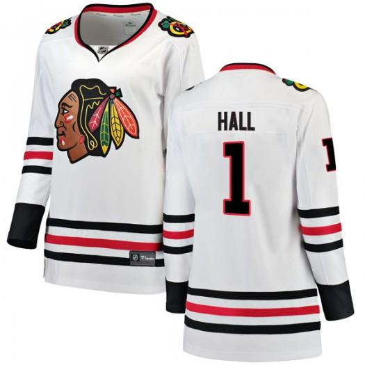 Glenn Hall Chicago Blackhawks Women's Fanatics Branded White Breakaway Away Jersey