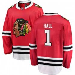 Glenn Hall Chicago Blackhawks Youth Fanatics Branded Red Breakaway Home Jersey