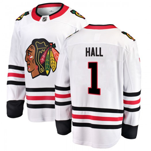 Glenn Hall Chicago Blackhawks Youth Fanatics Branded White Breakaway Away Jersey