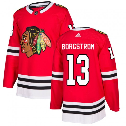 Henrik Borgstrom Chicago Blackhawks Men's Adidas Authentic Red Home Jersey