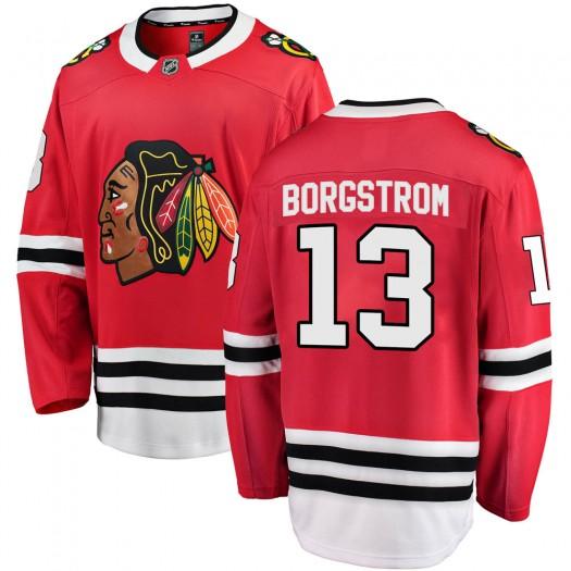 Henrik Borgstrom Chicago Blackhawks Men's Fanatics Branded Red Breakaway Home Jersey