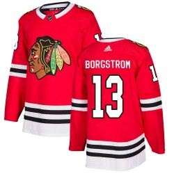 Henrik Borgstrom Chicago Blackhawks Youth Adidas Authentic Red Home Jersey