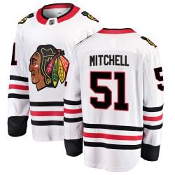 Ian Mitchell Chicago Blackhawks Men's Fanatics Branded White Breakaway Away Jersey
