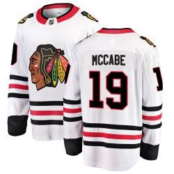 Jake McCabe Chicago Blackhawks Men's Fanatics Branded White Breakaway Away Jersey