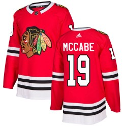 Jake McCabe Chicago Blackhawks Youth Adidas Authentic Red Home Jersey